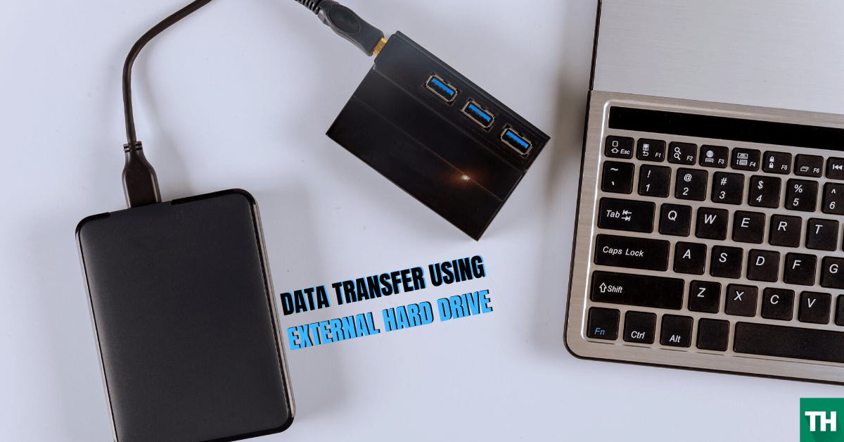 Transfer data to new pc using external hardrive
