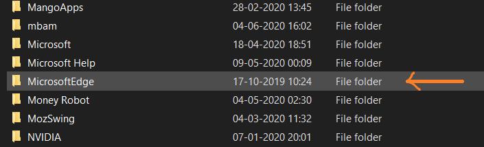 Delete Chromium app data