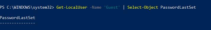 Last password modification date