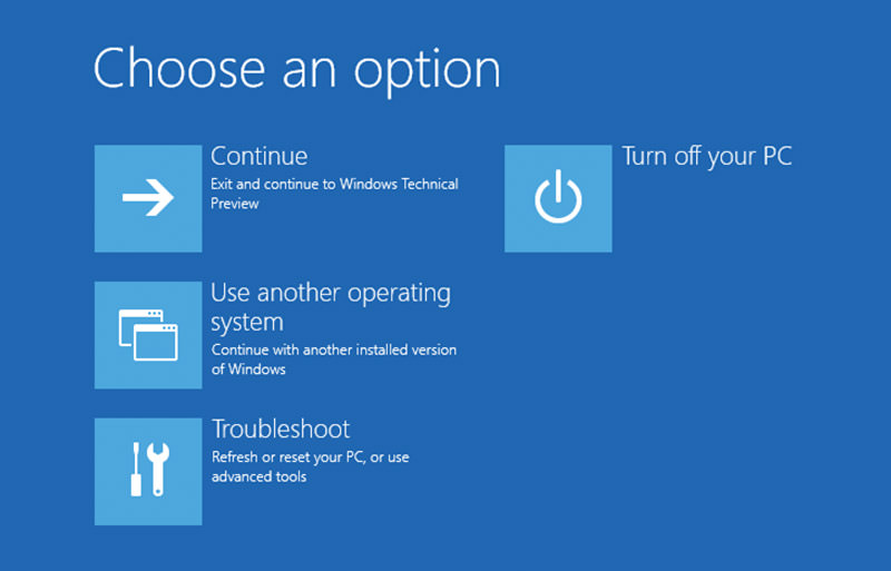 Troubleshoot option in Windows 10