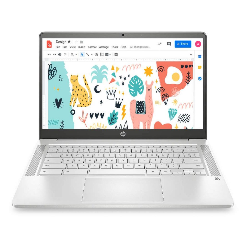 HP Chromebook White Laptop