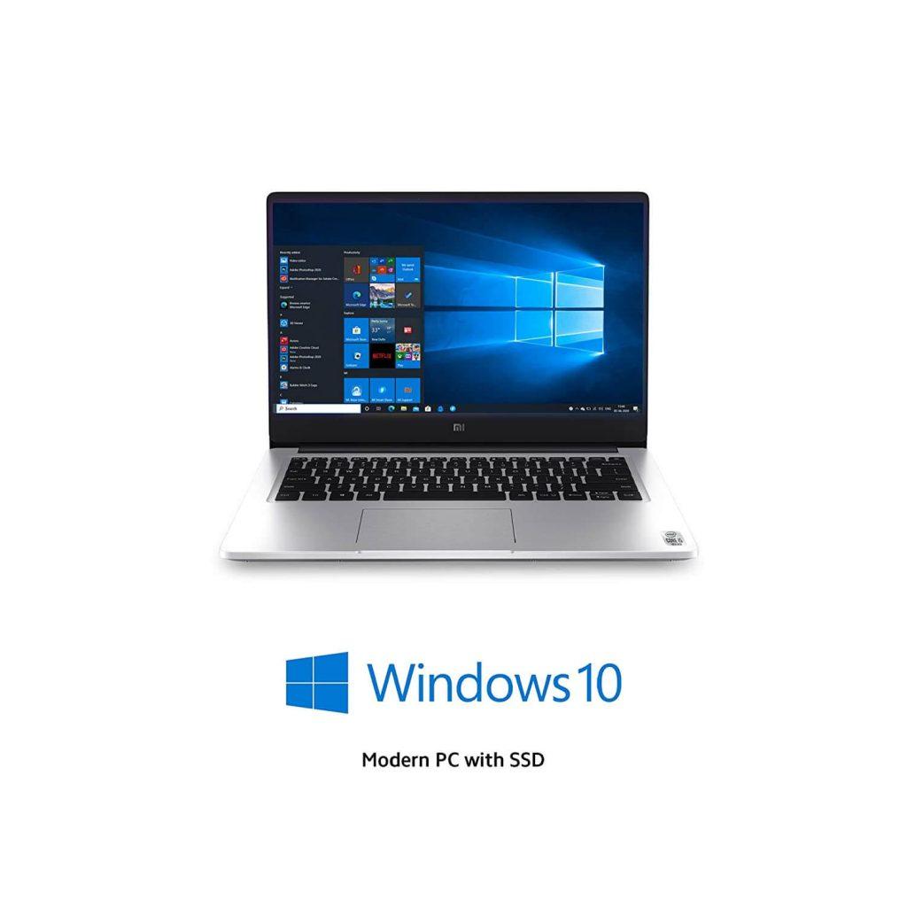 Mi Notebook White silver laptop