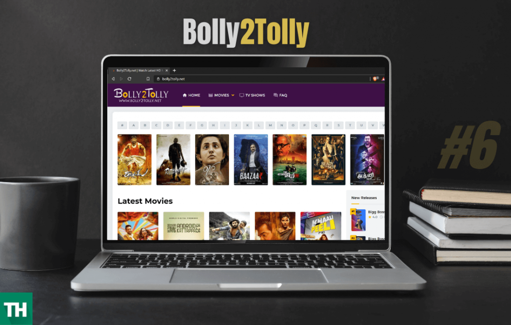 Bolly2tolly best tamil movies online list on a computer
