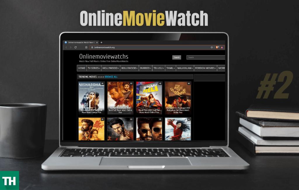 Online Movie watch - tamil movie free streaming site on laptop