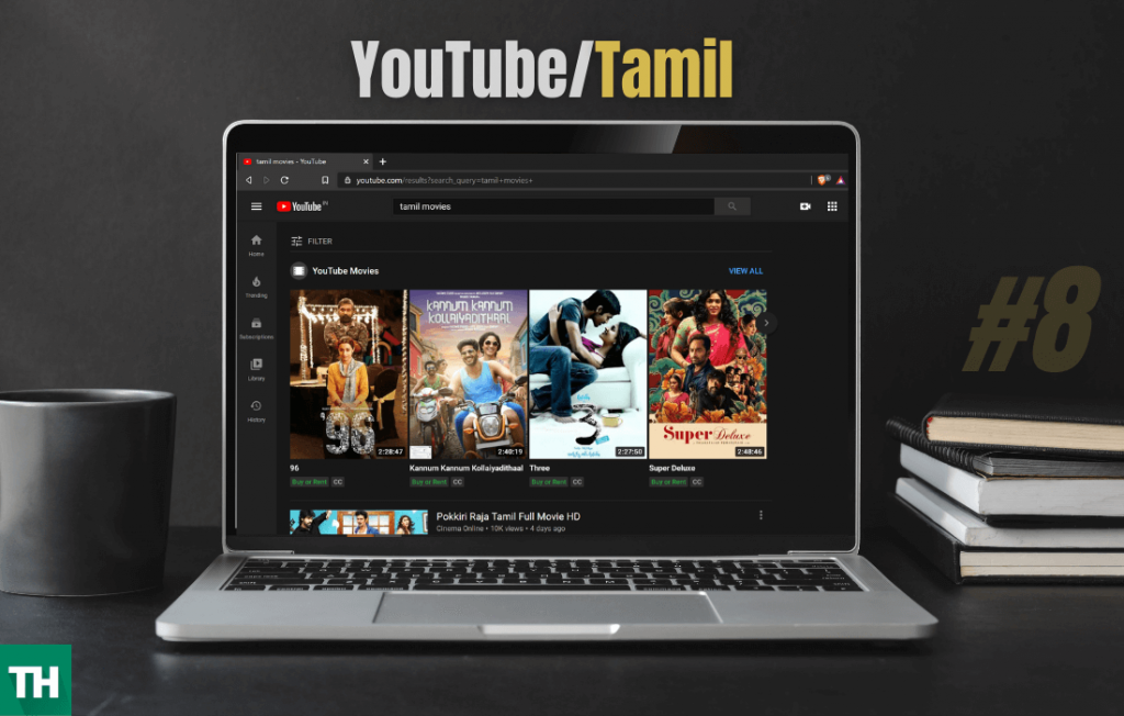 Youtube for steaming movies - on a system with internet connection