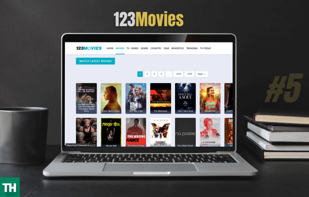 123movies on a laptop browser