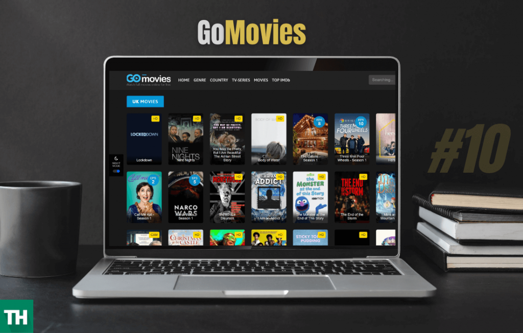 GoMovies website on a browser