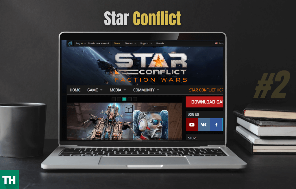 start conflict game like eve online