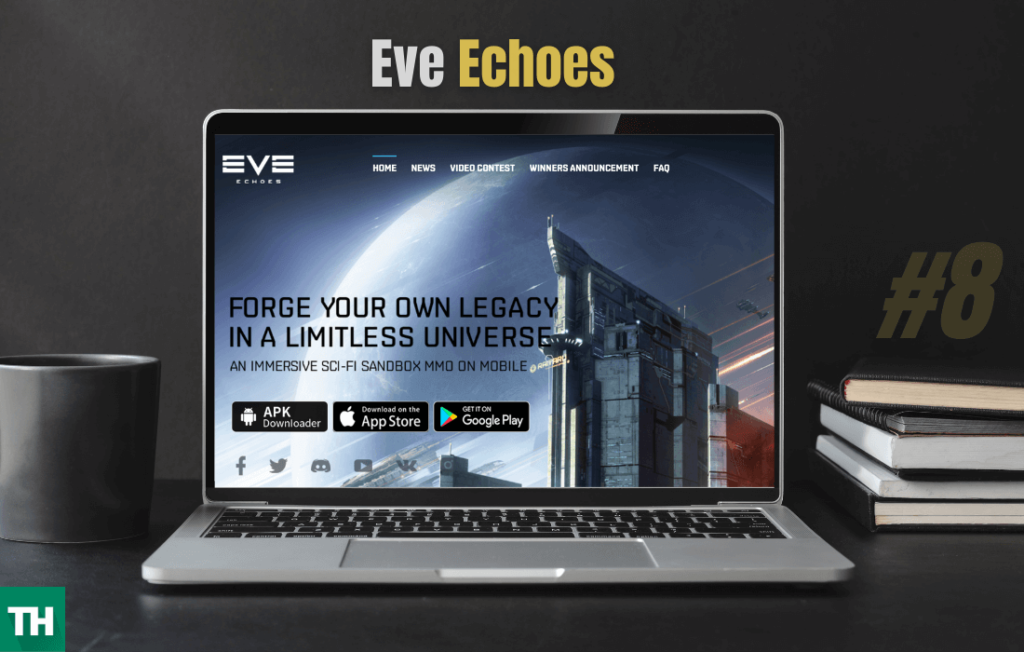 Eve Echoes Game on a laptop Games like eve online alternative