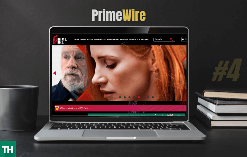 Primewire website on a laptop browser used for alluc alternatives