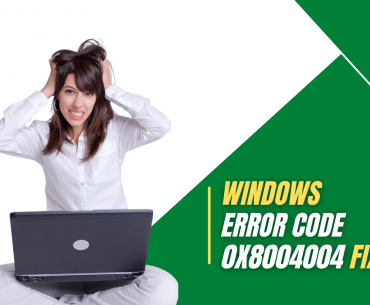 A lady stressed with windows error code 0x80004004 cover