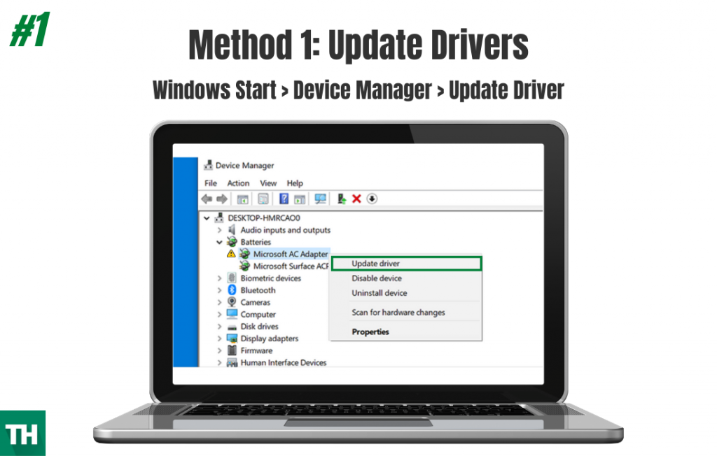 Updating drivers to fix error code 0x80004004