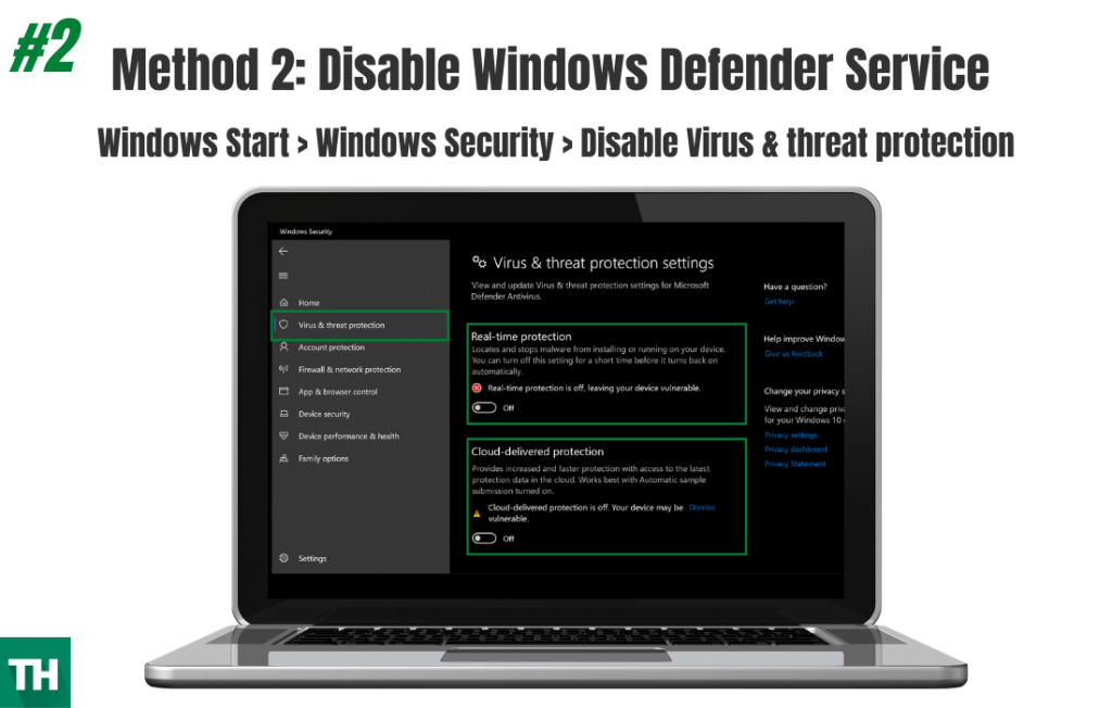 Disable windows Defender Service Method 2