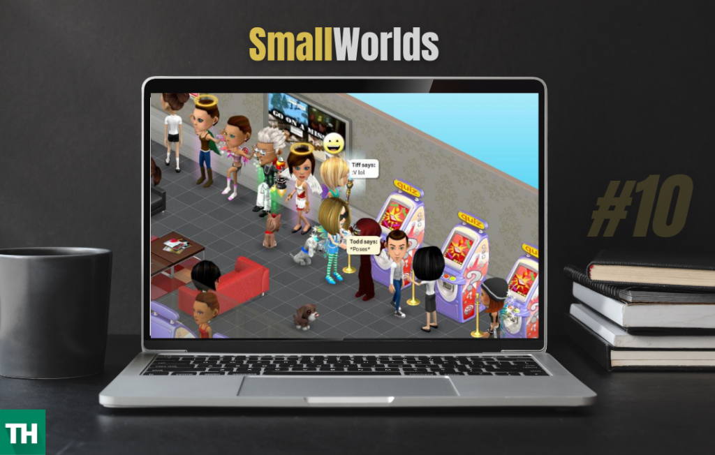 Smallworlds website on a laptop screen