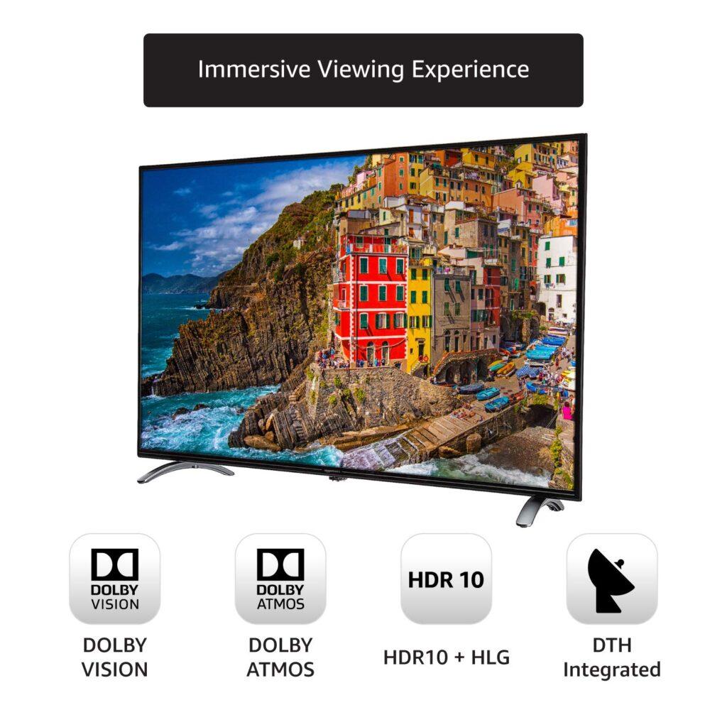 Amazonbasics best tv under 55000 4k ultra hd black tv