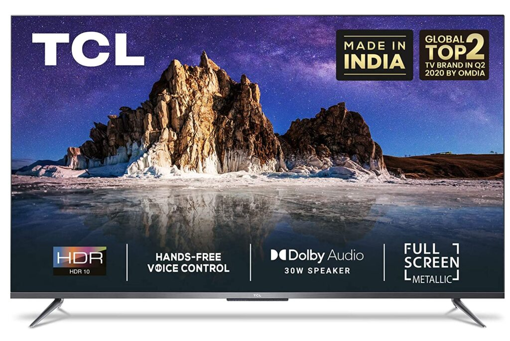 TCL 4k UHD Android Tv Best tv under 55k