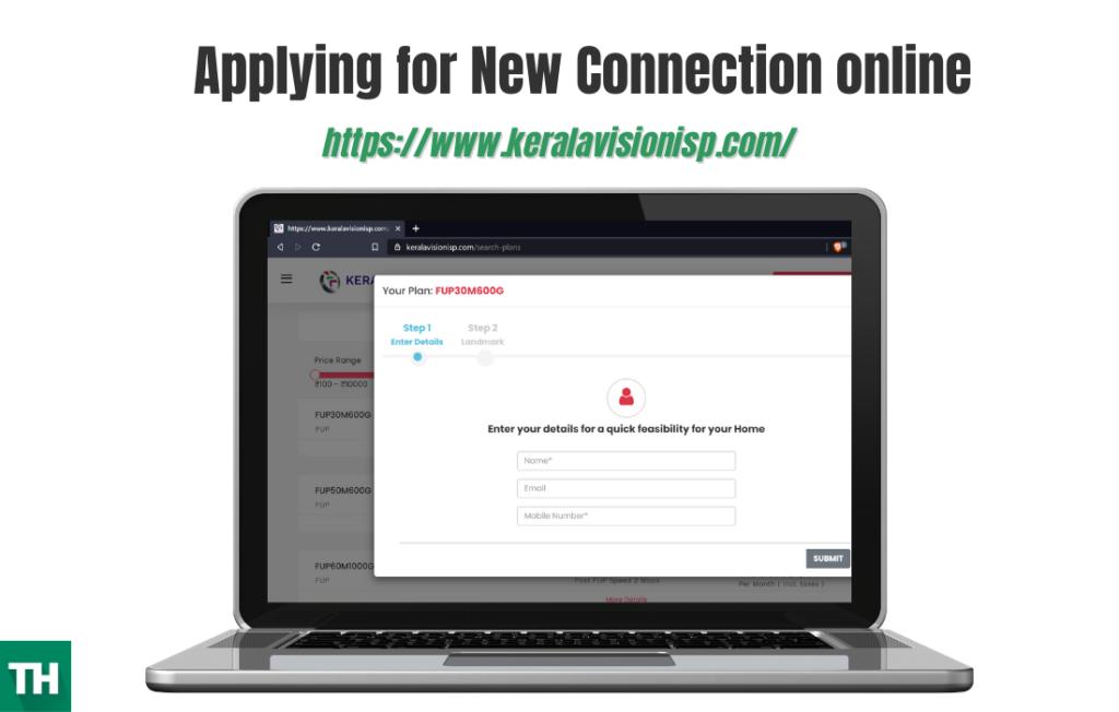 Applying a new kerala vision broadband connection