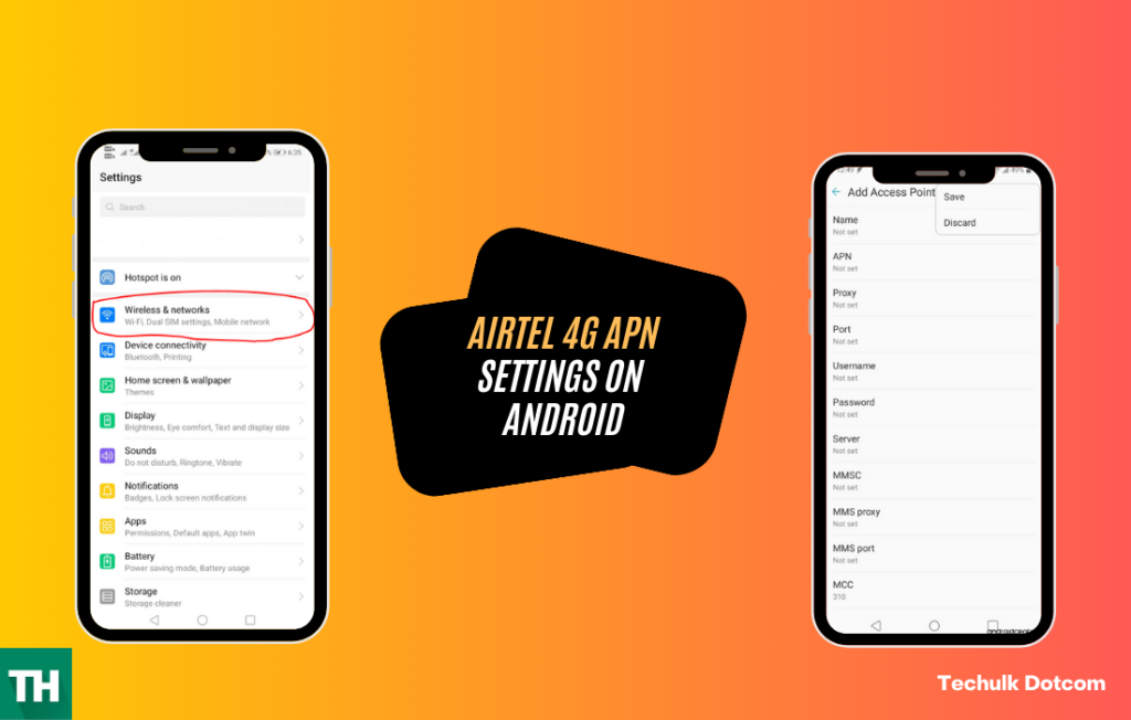 Best airtel apn settings for Android