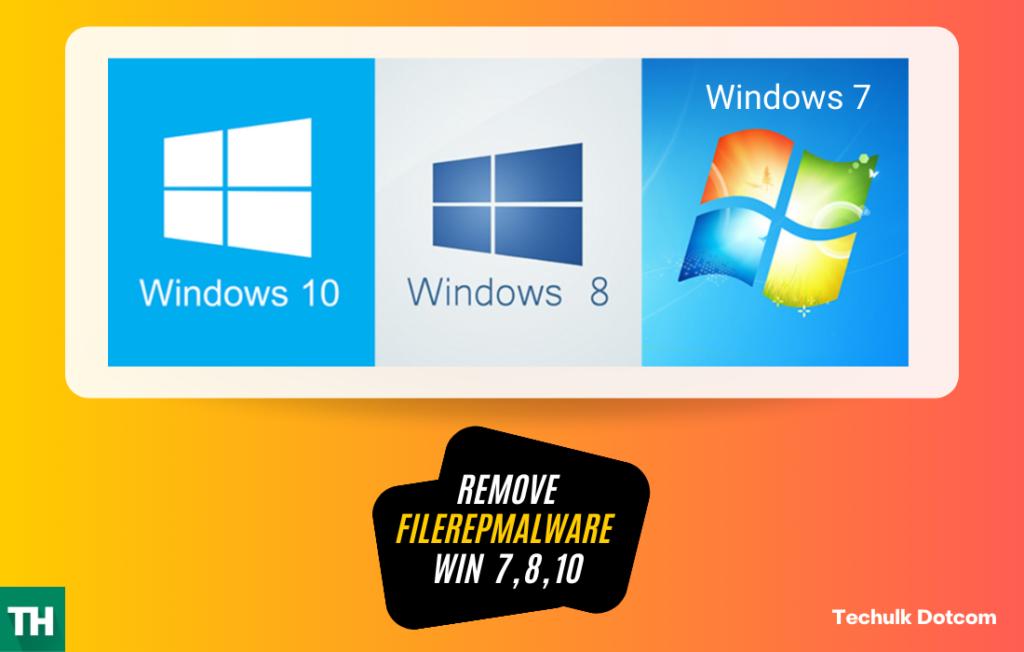 Remove FileRepMalware from Windows 10
