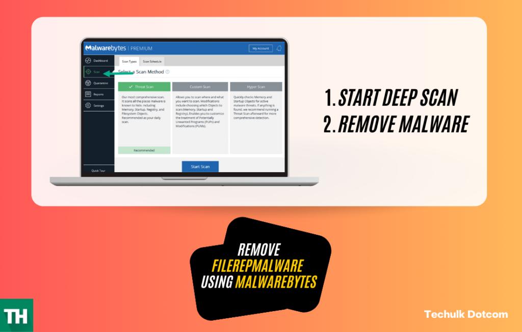Remove FileRepMalware using Malware Bytes